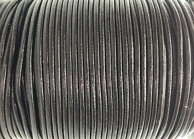 2.5mm Brown Leather Cord Lace 100m Jewellery Making Cord