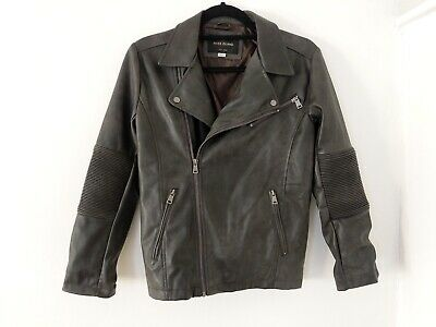 River Island Girls Brown PU Leather Jacket Age 12 Years