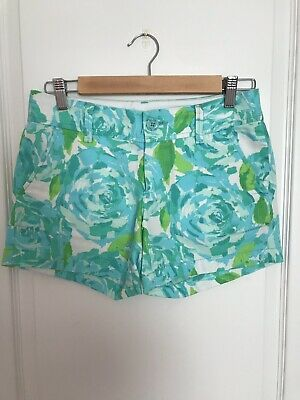 405a6b0beadd99 LILLY PULITZER POOLSIDE Blue First Impression Callahan Shorts. Size ...