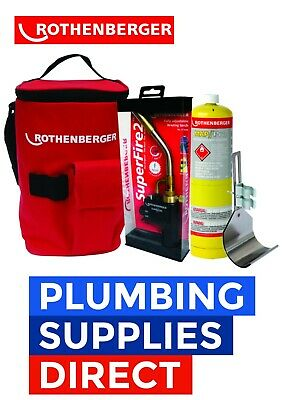 Rothenberger Hot Bag Superfire 2 Torch Mapp Gas & Heat Guard - Plumbers Kit