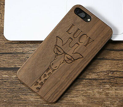 Personalised Giraffe Name Wooden Engraved Phone Case Protective Cover For iPhone