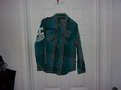 Boys Mulicolored Plaid Button Front Shirt Size L 10-12 By Never Give Up John Cen