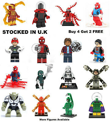 Spiderman Minifigure Marvel Spider-Man Far From Home Lego & Custom Mini Figure
