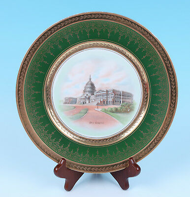 Antique Washington D.C THE CAPITOL Souvenir Plate Silesia Porcelain Tatler China