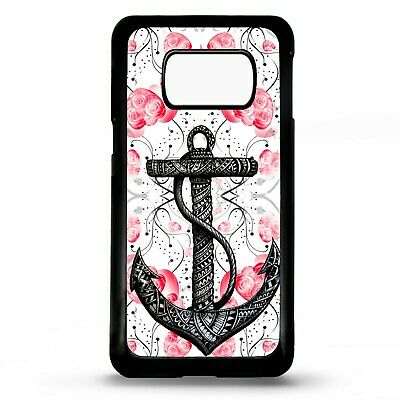 Anchor floral flower tattoo sailing case cover for Samsung Galaxy S10 S10e plus