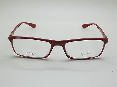 4214eb28ed1ad NEW Authentic Ray Ban RB 7035 5435 LITEFORCE Shiny Red 54mm RX Eyeglasses
