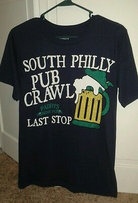 It's Always Sunny In Philadelphia T-Shirt Size S South Philly Pub Crawl Paddy's