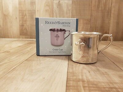 Reed & Barton Pewter Baby Cross Cup 6 Ounce P828
