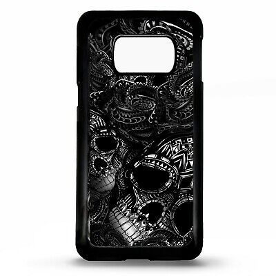 Sugar skull black rose flower tattoo case cover for Samsung Galaxy S10 S10e plus