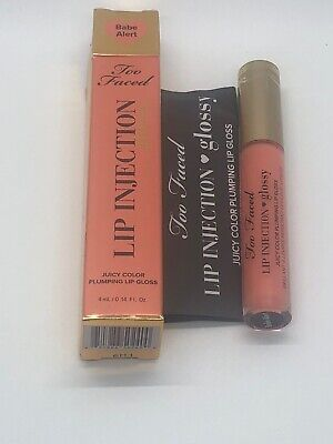TOO FACED LIP Injection Glossy BABE ALERT BNIB Plumping Lip Gloss FULL SIZE