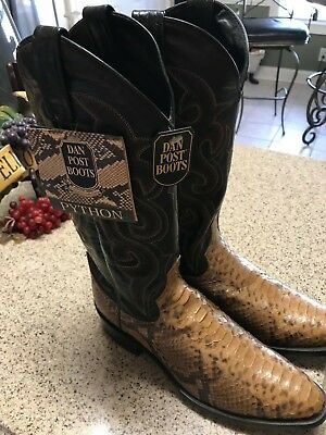 de7ea123bdb DAN POST HAND Crafted Western Python boots Men's size 7&1/2 . Style ...