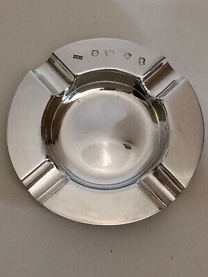 Vintage Sterling Silver Ashtray 71.74grams