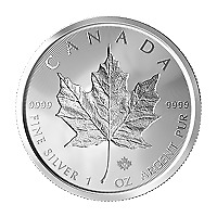 Lot of 25 x 1 oz 2019 Canadian Maple Leaf Double Incuse Silver Coin