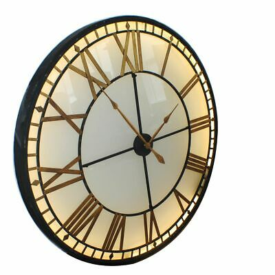 Illuminated Light Big Skeleton Vintage Wall Clock  120cm Diameter - UK MAINLAND