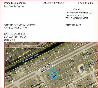30 Land Lots for Sale! All over the United States! Please see the list and price
