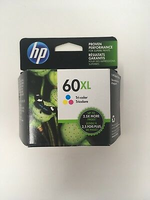 NEW Genuine HP 60XL Tricolor Ink Cartridge CC644WN High Yield OEM Exp. 2020-2021