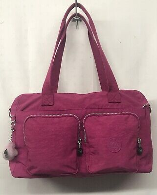 c03c144e5e EUC KIPLING SASHA SHERPA Carry On Tote Shoulder Bag - $24.00 | PicClick