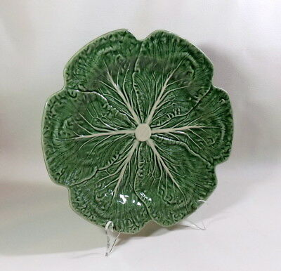 "BORDALLO PINHEIRO Portugal Green Cabbage Large Round Serving Plate 12"" #1"