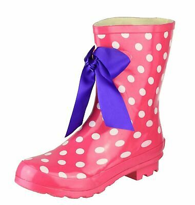 Womens Cotswold Gatcombe Pink Wellingtons Wellies Rain Walking Calf Boots