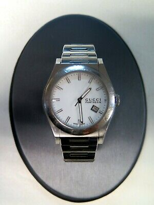32003c6d473 Gucci Pantheon YA115210 115.2 44mm Stainless Quartz White Dial Watch   62846-11