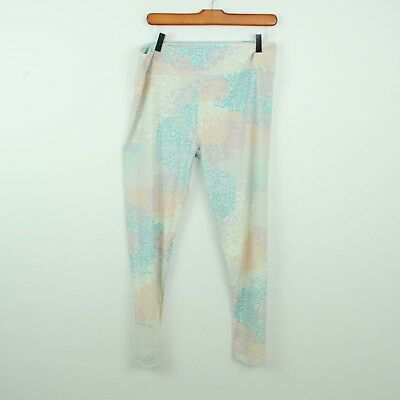 Lularoe Womens Leggings Tall and Curvy Pastel Geometric Doodles Abstract
