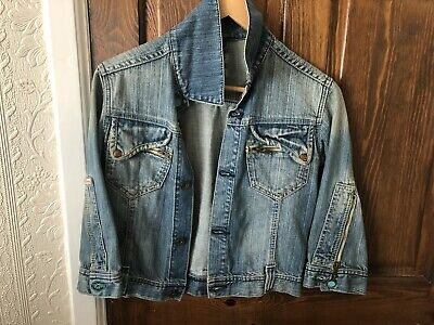 b8af71f9ca072 Womens Firetrap Light Coloured Cropped Denim Jacket - Size XS In Great  Condition