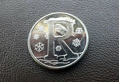 Rare 10p Coin UK – Letter R–  Robin 2019 – Uncirculated