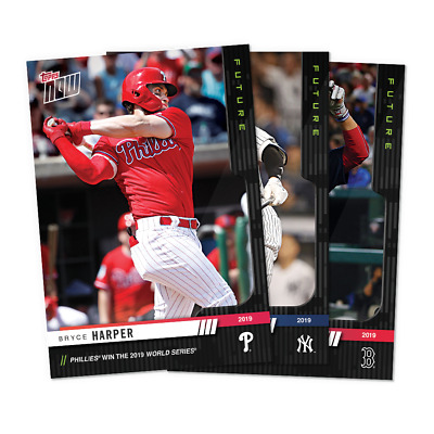 2019 Topps NOW Future World Series YOU PICK CARD WIN ACUNA LIST UPDATED