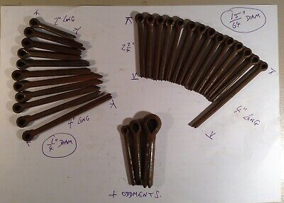 Assorted old stock large size SPLIT PINS /. COTTER PINS ( see pic )