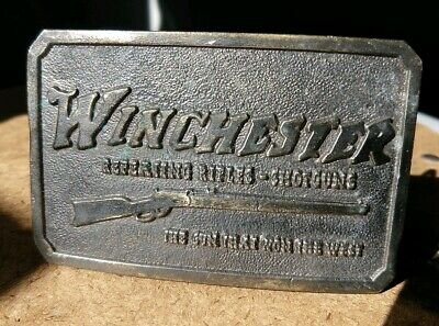 Vintage Winchester Rifle Repeating Arms Belt Buckle