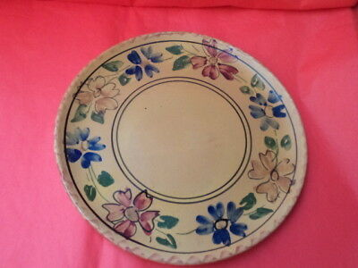 OLD GREEK HANDMADE  CERAMIC PLATE FROM SIFNOS ISLAND 1970s