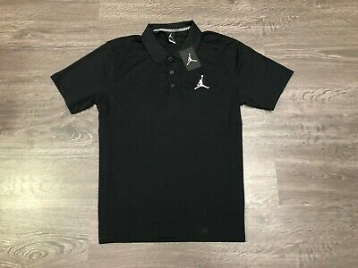 Nike Air Jordan Jumpman Team Dri-Fit Golf Polo Shirt Black Mens New 865856-010