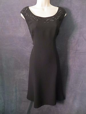 1d06262c45369e Gorgeous Donna Morgan Black Sleeveless Embroidered Fit Flare Formal Dress 8