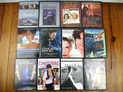 Lot Of 12 Drama Action Thriller Dvd Movies Various Genres Pre-Owned Dvd Movies