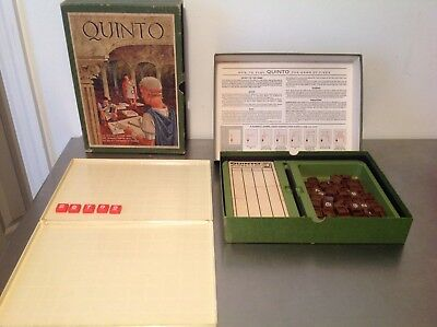 Vintage 3m QUINTO Boardgame Bookshelf Complete 1968 Version