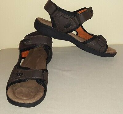 0a2360cc4672 CROFT   BARROW Mens Sz 10 Med Leather Sandals With Core Technology ...