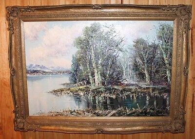 """Original Oil on Canvas Painting by German Master Artist Ludwig Sohler 43"""" x 31"""""""