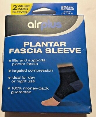 5f64a772b1 Airplus Plantar Fascia Sleeves Left and Right Size Small/Medium Black