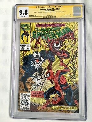 AMAZING SPIDER-MAN #362 - CGC 9.8 SS X3 (1992 - 2nd Carnage, Venom) KEY NM/MT