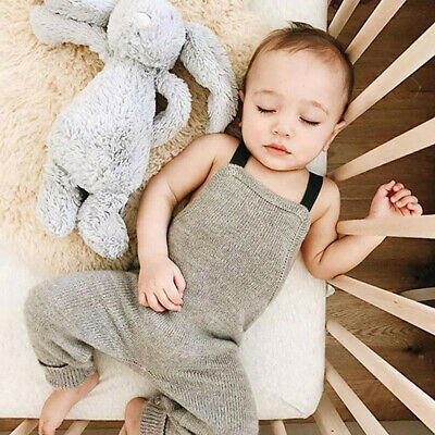 Toddler Newborn Baby Boys Girls Cute Knitted Rompers Jumpsuit Outfits Clothes