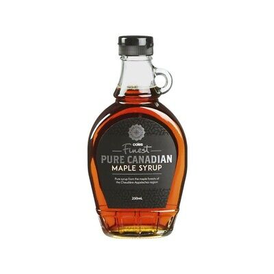 Coles Finest Pure Canadian Maple Syrup 250mL