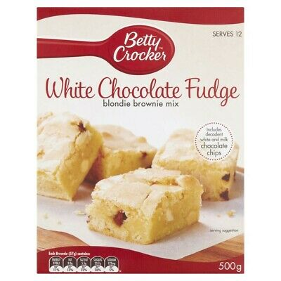 Betty Crocker White Chocolate Fudge Blondie Brownie Baking Mix 500g
