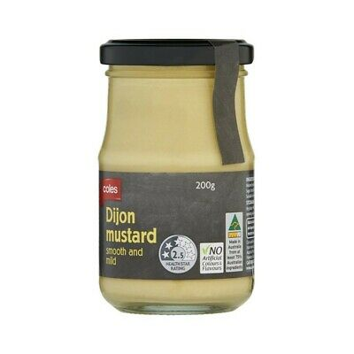 Coles Dijon Mustard Smooth And Mild 200g