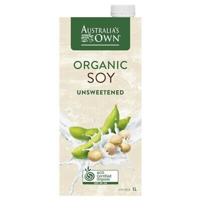 Australia's Own Lactose Free Unsweetened Organic Soy Milk 1 litre