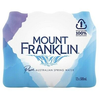 Mount Franklin Pure Spring Water 500mL 12 pack