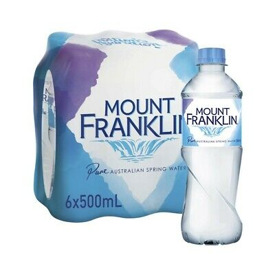 Mount Franklin Pure Spring Water 500mL 6 pack
