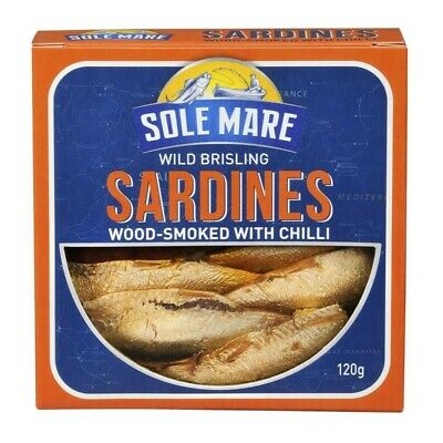 Sole Mare Wild Brisling Sardines Wood Smoked With Chilli 120g