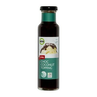Coles Dark Choc Coconut Topping 250mL
