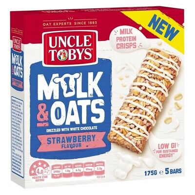 Uncle Tobys Milk & Oats Strawberry Flavour With White Chocolate Muesli Bars 5...