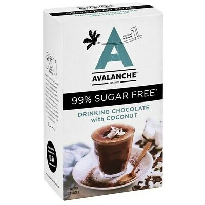 Avalanche Sugarfree Drinking Chocolate Wth Coconut 10 pack